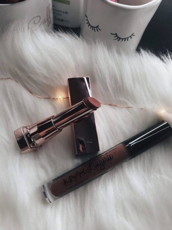 First impressions, NYX Lingerie line liquid lipstick in the shade Teddy - Is it worth it? Drugstore makeup, beauty on a budget
