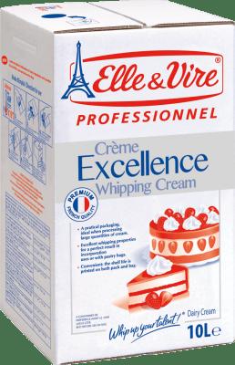 Elle Et Vire.com/fr : vire.com/fr, EXCELLENCE, WHIPPING, CREAM, Litres, Catering, Professionnel
