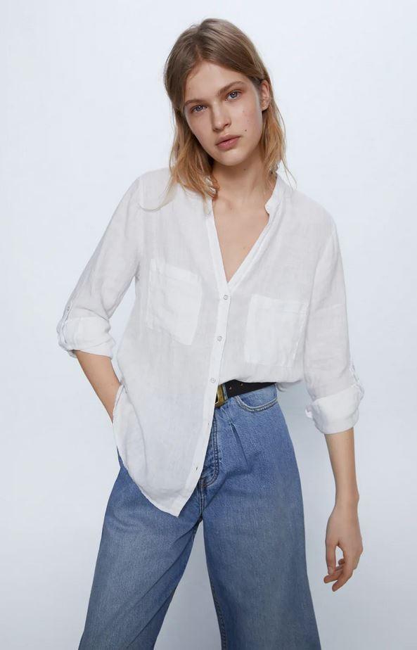 Λινό πουκάμισο, Zara.