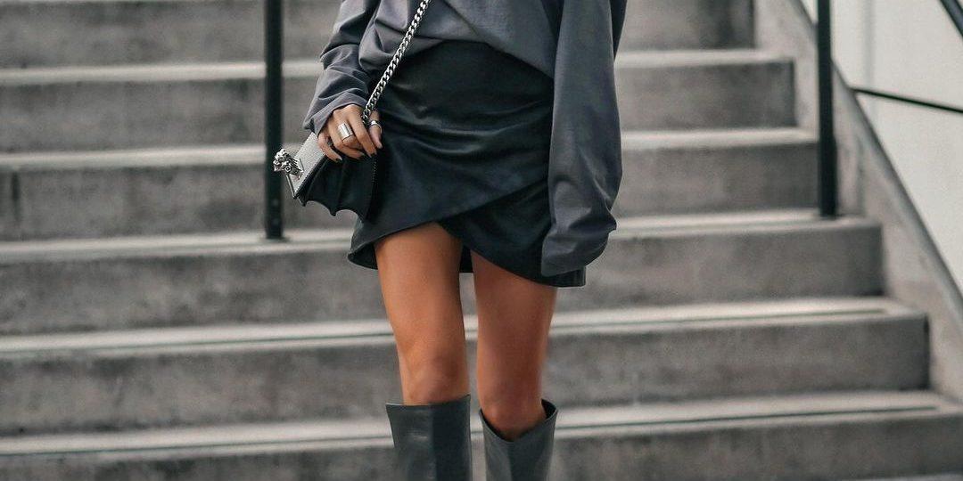 Μίνι φούστα + μπότες: 7 συνδυασμοί φωτιά
