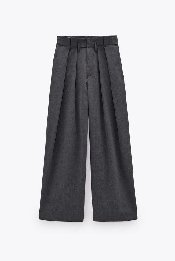 Ψηλόμεσο γκρι παντελόνι, Zara.