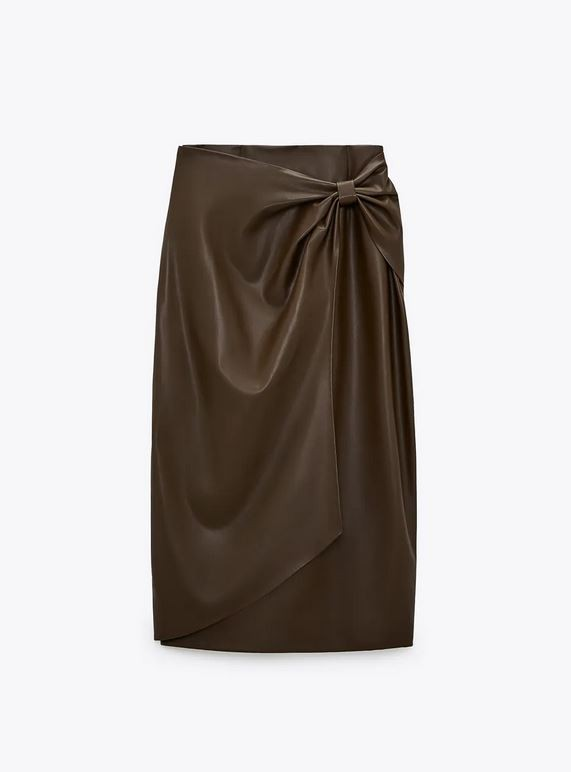Δερμάτινη φούστα, Zara.