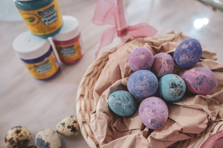 Easter Quail Eggs basket