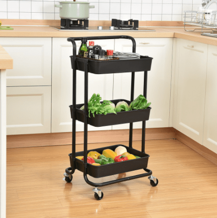 3 layer Storage Organizer Movable Rack