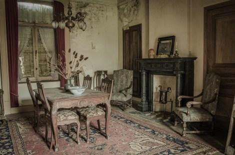 verlassenes Wohnzimmer