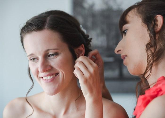 Hochzeit getting ready Braut