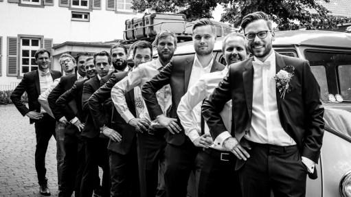 Hochzeit Sektempfang Gruppenbilder