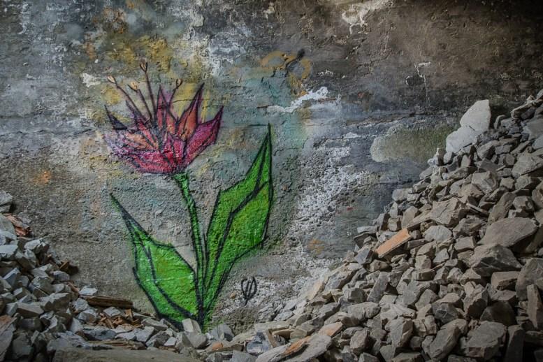 Blume aus Stein