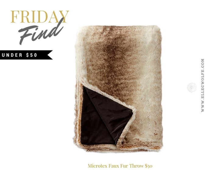 FRIDAY Find Winter whimsy- fur throw FB