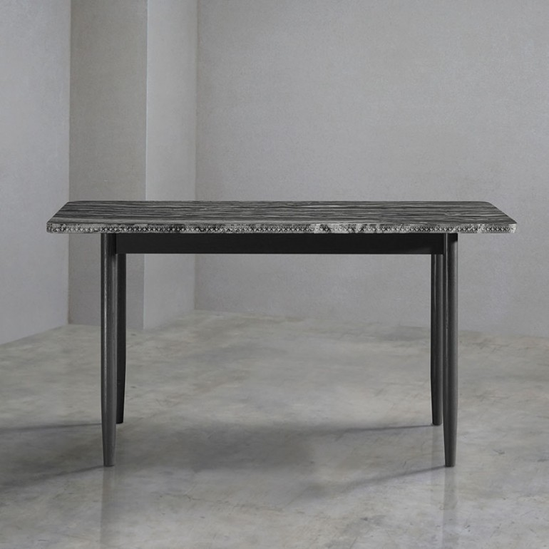 black walnut kitchen table portable outdoor 'brogue' by bethan gray | elle decoration uk