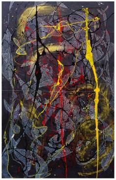 "mixed media on canvas | 38"" x 60"" | 2014"