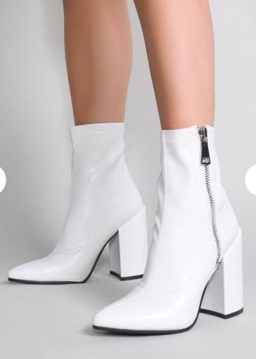 Public Desire, Renzo Sock Fit Ankle Boots, In White. Sizes UK 3 - 9. £39.99. https://www.publicdesire.com/renzo-sock-fit-ankle-boots-in-white?istCompanyId=6441a7c9-a919-4383-ae34-84ed6652725c&istItemId=-xaiqwtlapw&istBid=tzxp&channel=ppc&gclid=EAIaIQobChMI0aOy4Lin3wIVSLTtCh056w2eEAQYBCABEgJ6WvD_BwE&gclsrc=aw.ds