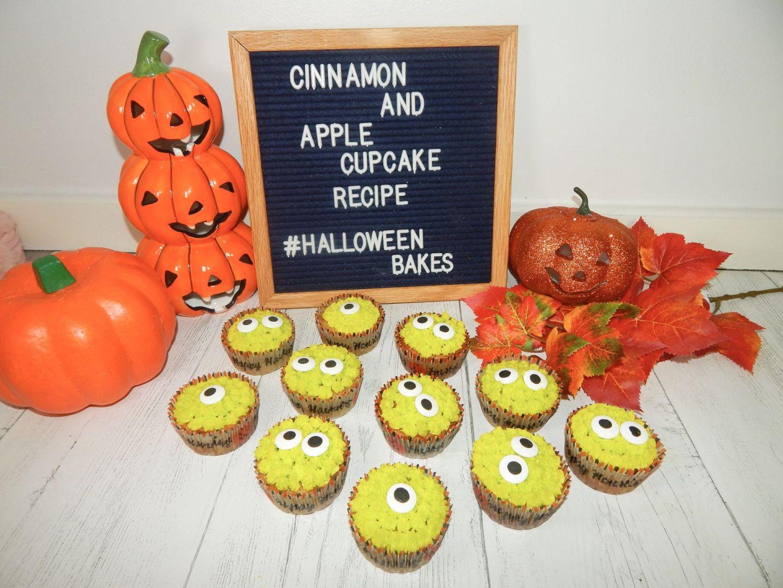 Shredded Apple & Cinnamon Monster Cupcakes – Halloween Bakes!