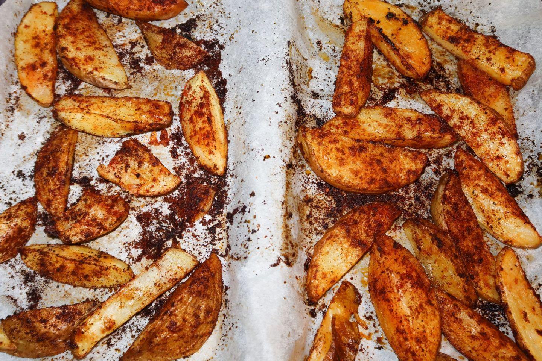 Low Calorie Potato Wedges Recipe!