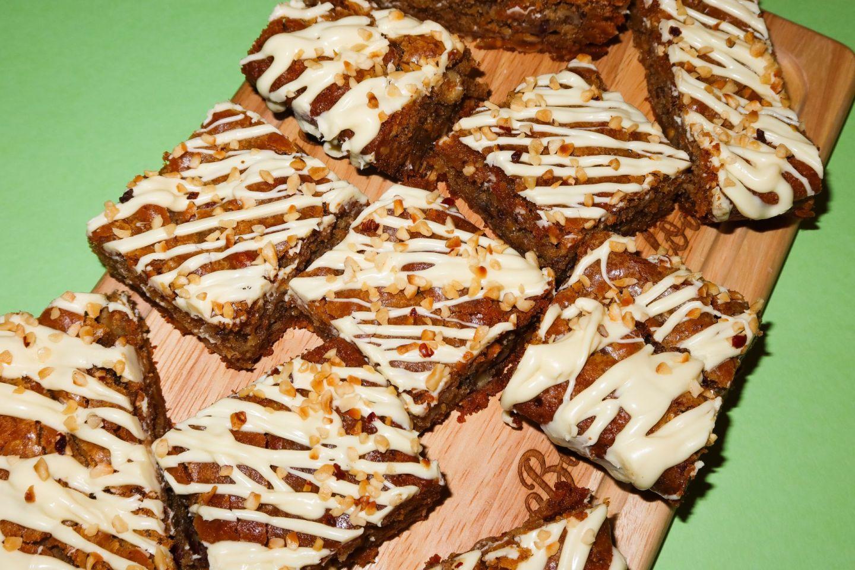White Chocolate & Hazelnut Blondie Recipe!