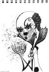 clown de printemps / av. 2012 / feutre / 14x20cm