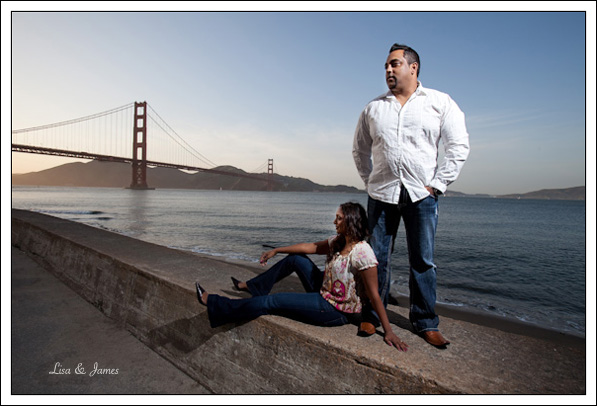 Anita & Vivek, Engagement, Golden Gate Bridge