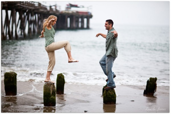Capitola Engagement Session, Beach