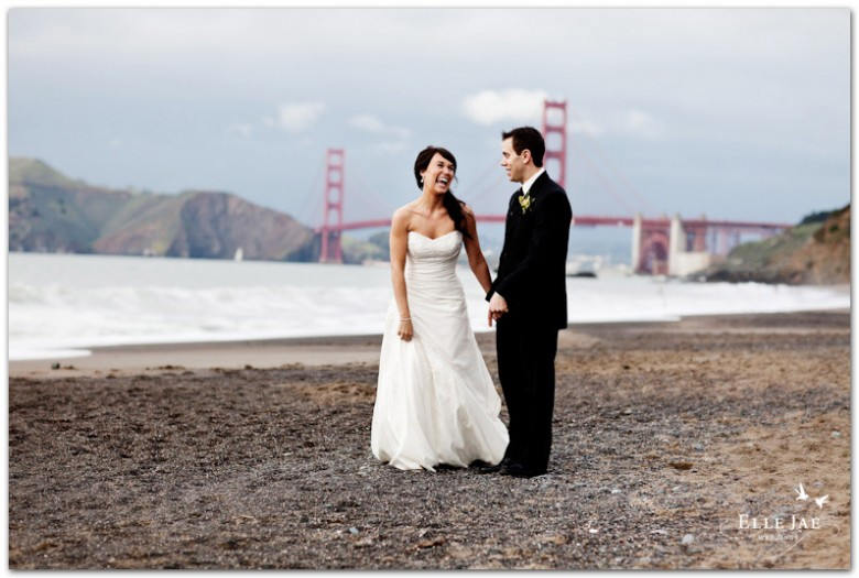 San Francisco Baker Beach Bride and Groom