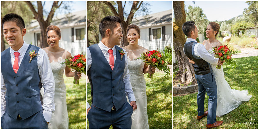 BR Cohn Winery Wedding First Look