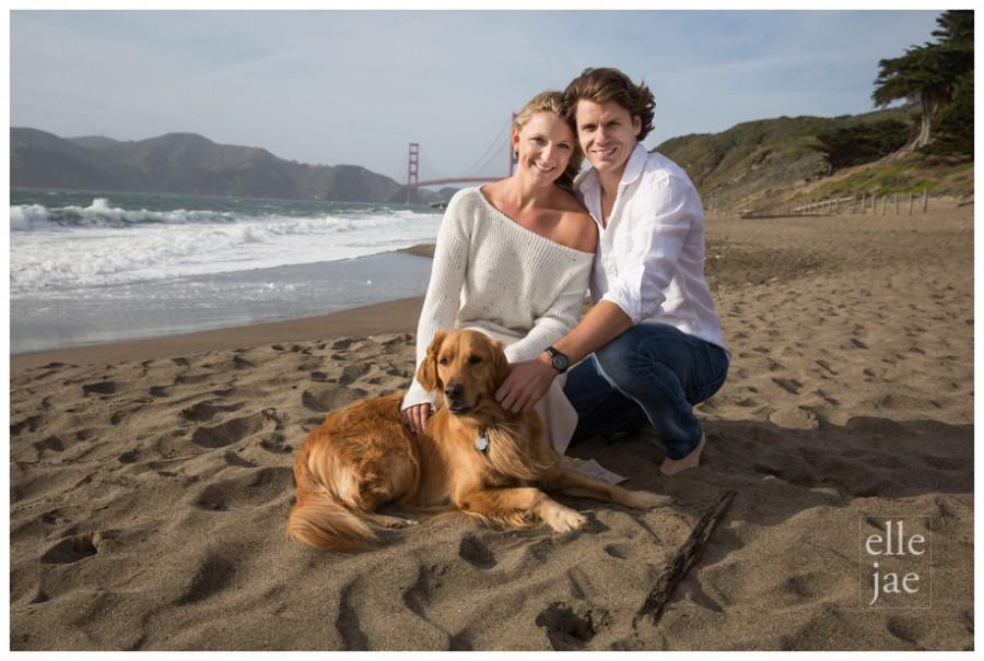 San Francsico Engagement with dog