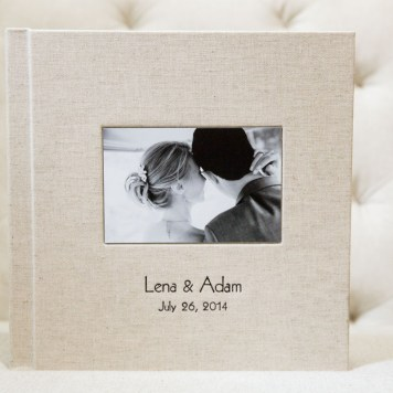 10x10 inch album with Light Countryside Book Cloth Cover.