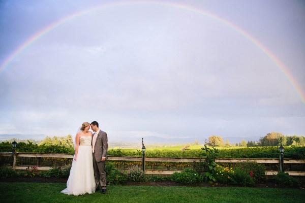 sonoma wedding rainbow