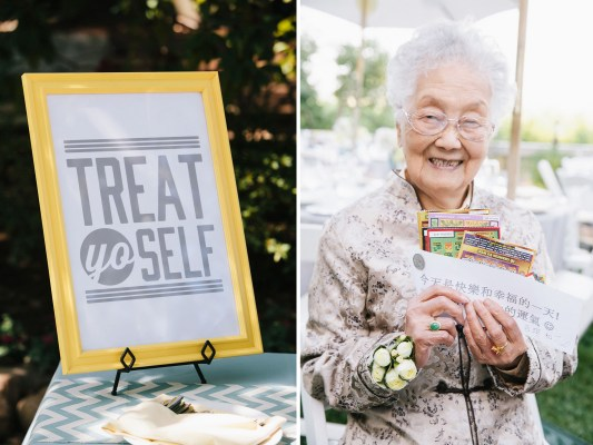 treat yo self wedding