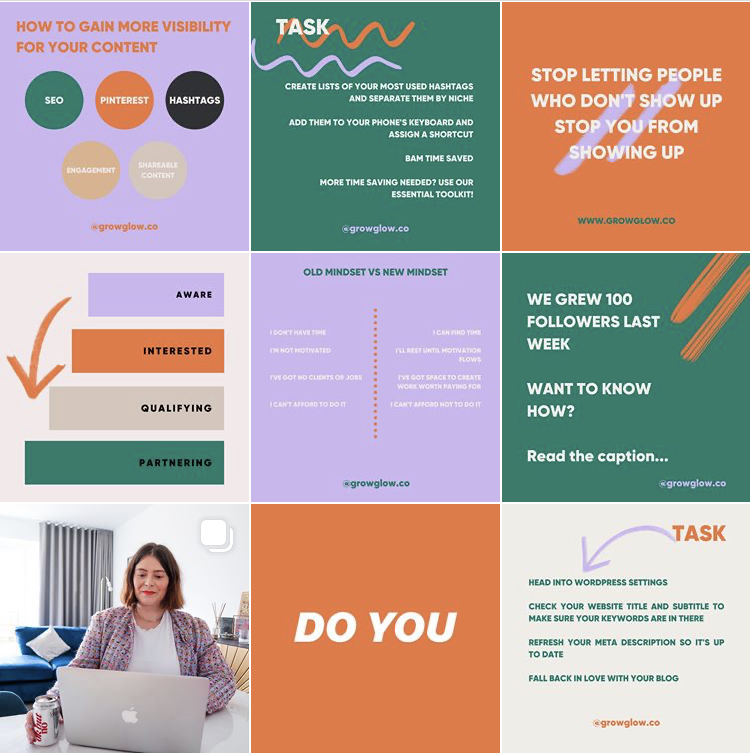 how to curate your instagram feed growglow 4 Tips to Curate Your Instagram Grid to Attract More Followers