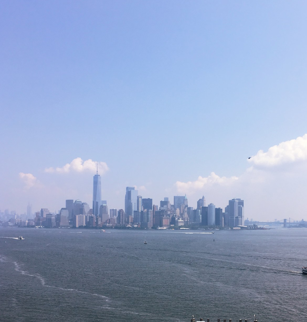 day at the statue of liberty