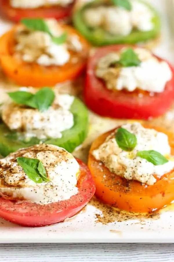 Salade tomates mozzarella caprese