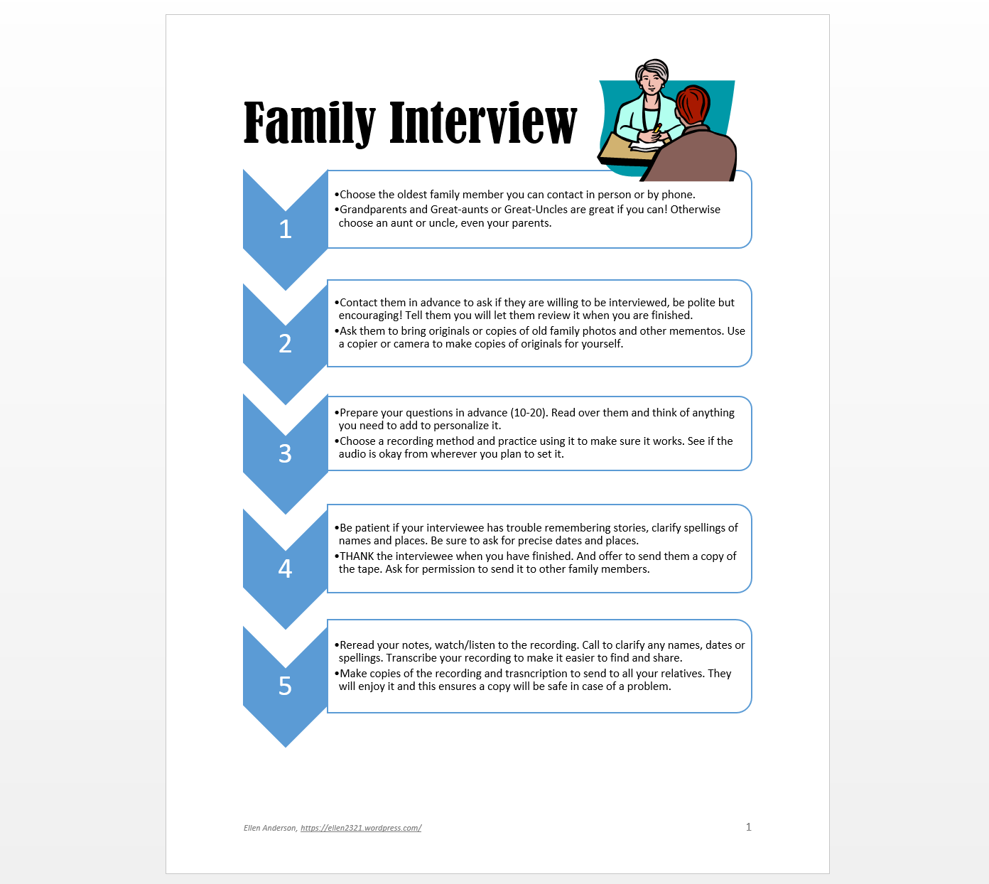 Family History Club Amp Interview Activity