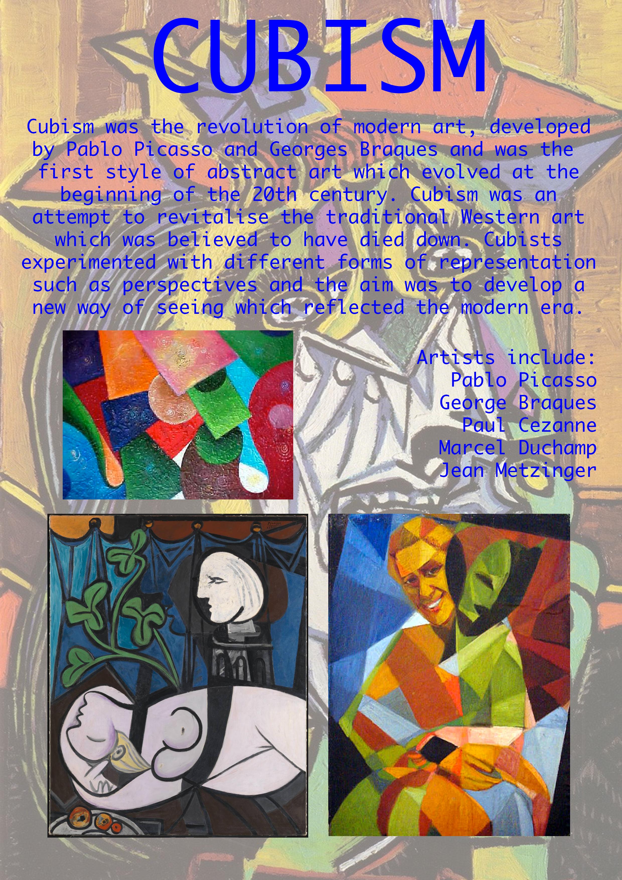 Cubism Art Movement Ellen Coleman Ellenamyc