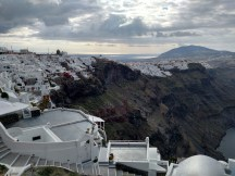 View of Fira on the way to Oia