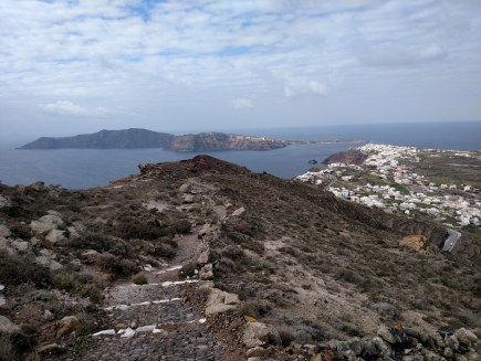 On the way to Oia.