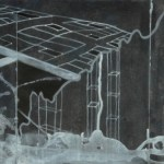 "McMansion Plot, 2007, 26"" x 11"", ink on paper"