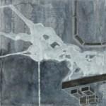 "Smoke, 2007, 34"" x 12"", ink on paper"