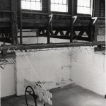 18'L x 36'H x 4'W, Starched cloth, wood and rivets, 2003