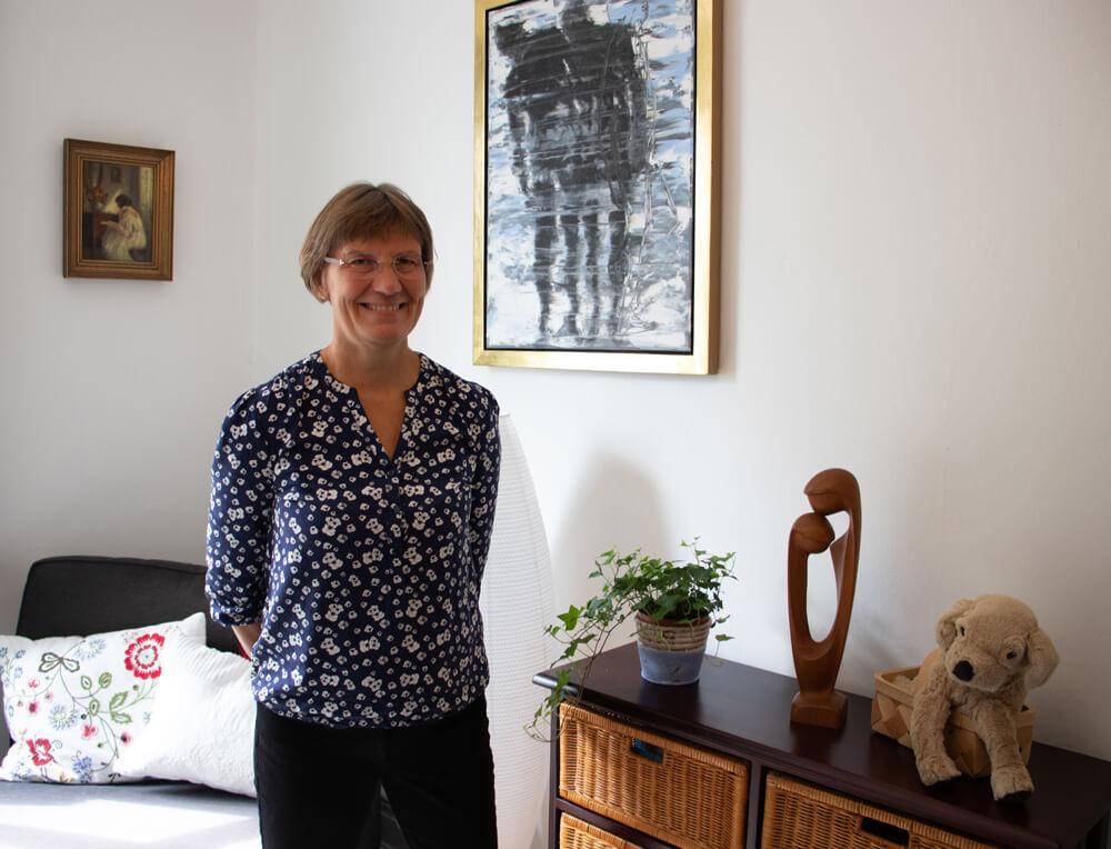 Hos psykolog Ellen Garne