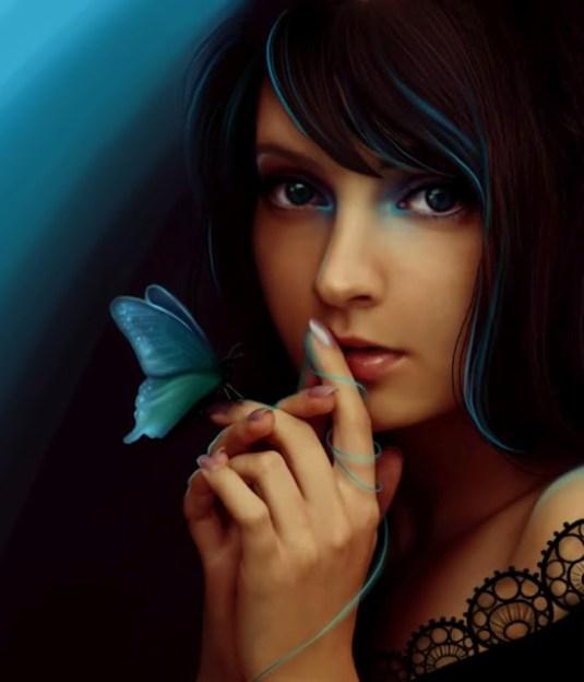 musa bella con mariposa