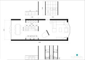 indeling keuken en woonkamer