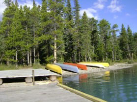 Canoes at Coronet Creek