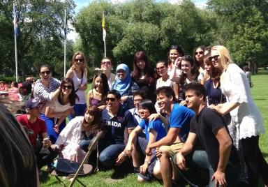 CCI students at the celebration