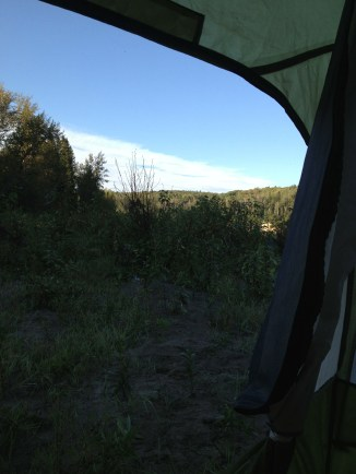 Morning scene from the tent