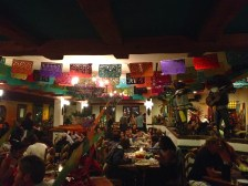 The interior of the Mexican restaurant