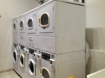 Hostel laundry room, with free soap