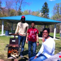 Enjoying a cool-weather picnic and barbecue at Victoria Park