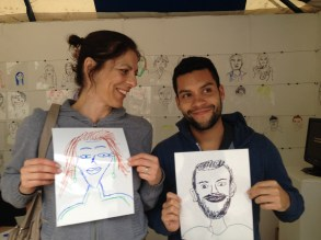 Drawing our twins at The Works Festival
