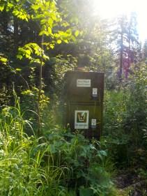 bear locker at Kinnaird Lake