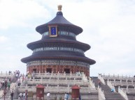 Temple of Heaven, where the Chinese emperors prayed for the crop each year.